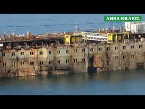Navio Costa Concordia entra em fase final de desmanche