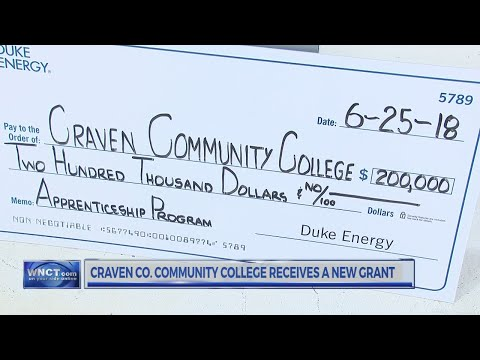 Craven Community College gets grant for apprenticeship program