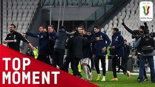 Juventus celebrate reaching the Coppa Italia final Juventus 0 0 Inter Coppa Italia 2020 21