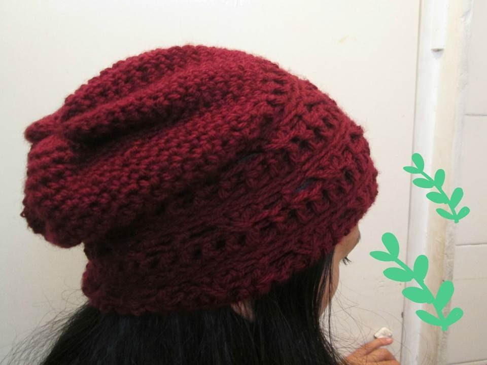 aadca059fe03f Gorro  Boina Para HOMBRE O MUJER a Crochet - YouTube
