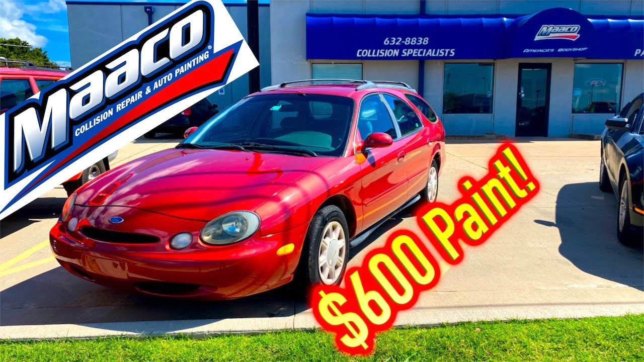 $700 IAA Ford Taurus gets $600 Maaco Paint Job + IAA Gave me a bad Title!!