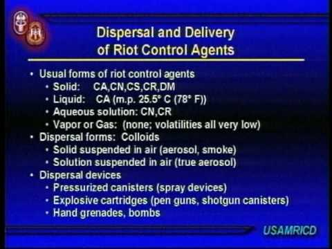 MEDICAL MANAGEMENT OF CHEMICAL AND BIOLOGICAL CASUALTIES - RIOT CONTROL AGENTS