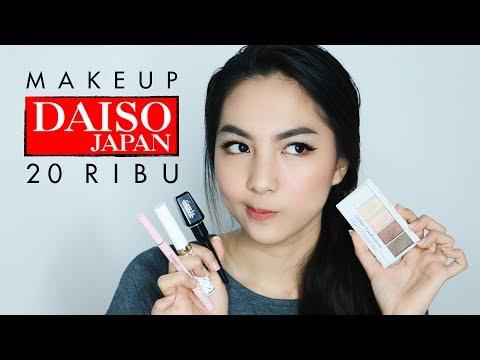 DAISO Makeup SERBA 20 RIBU! Bagus ga sih?? | Tutorial + Review