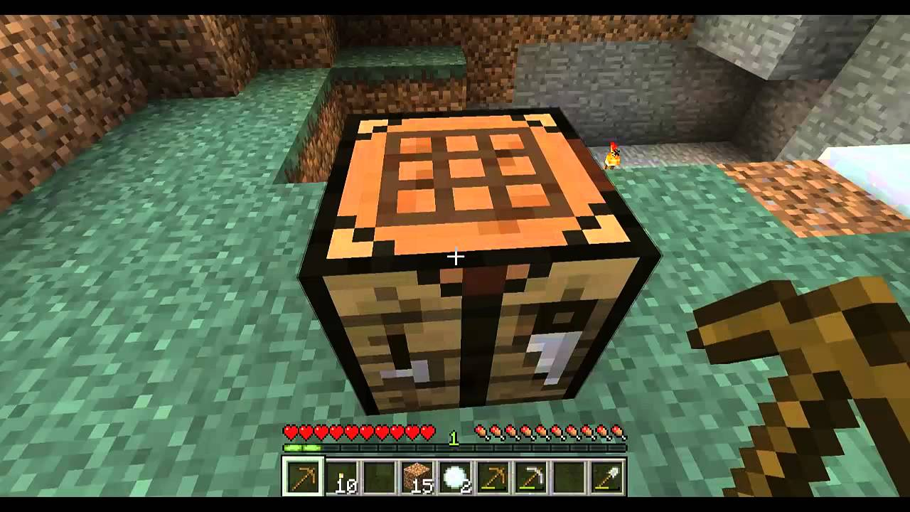 Minecraft how to make a torch crafting table and furnace for How to craft a furnace in minecraft