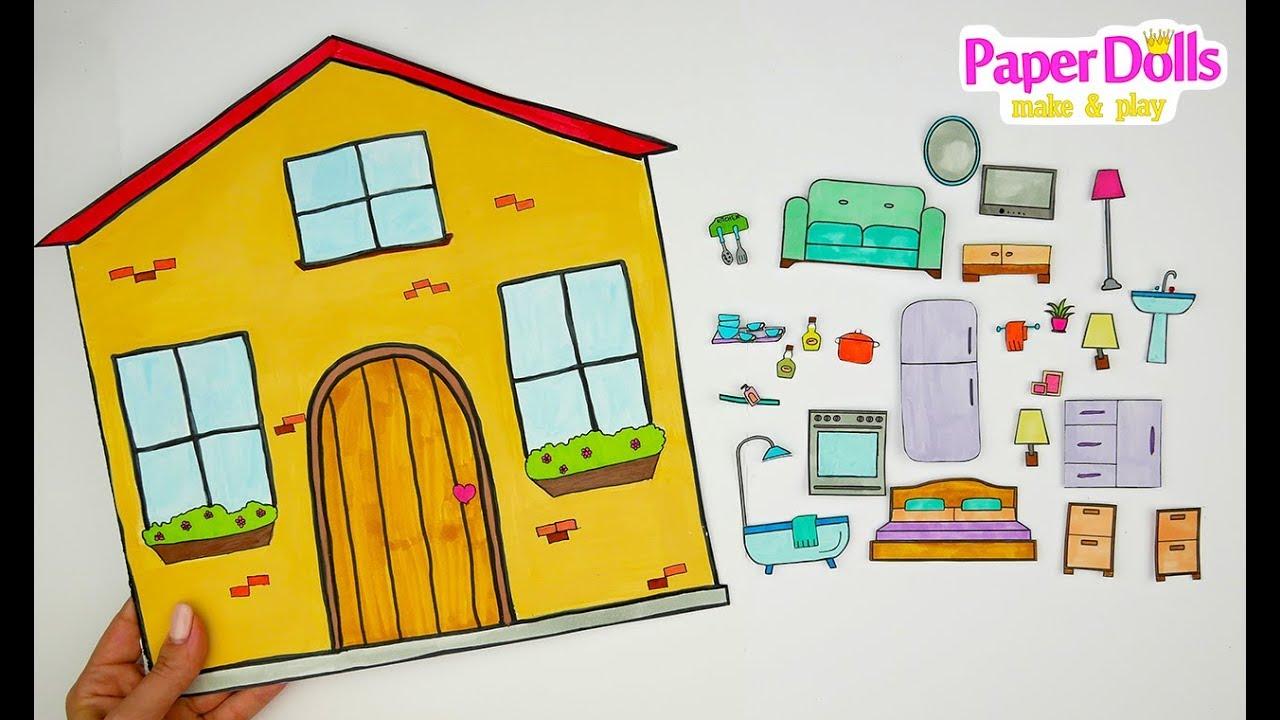 Paper Dolls Drawing Furniture