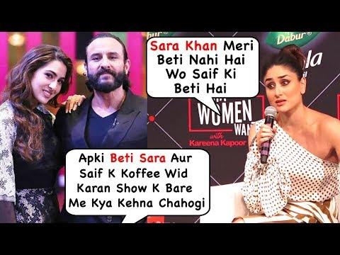 Kareena's Angry Reaction When Asked About Saif Ali Khan & Sara Khan Episode In Koffee Wid Karan