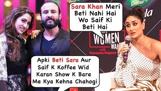 Kareena's Angry Reaction When Asked About Saif Ali Khan & Sara Khan Episode In Koffee Wid Karan