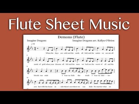 Demons  Imagine Dragons Flute Sheet Music