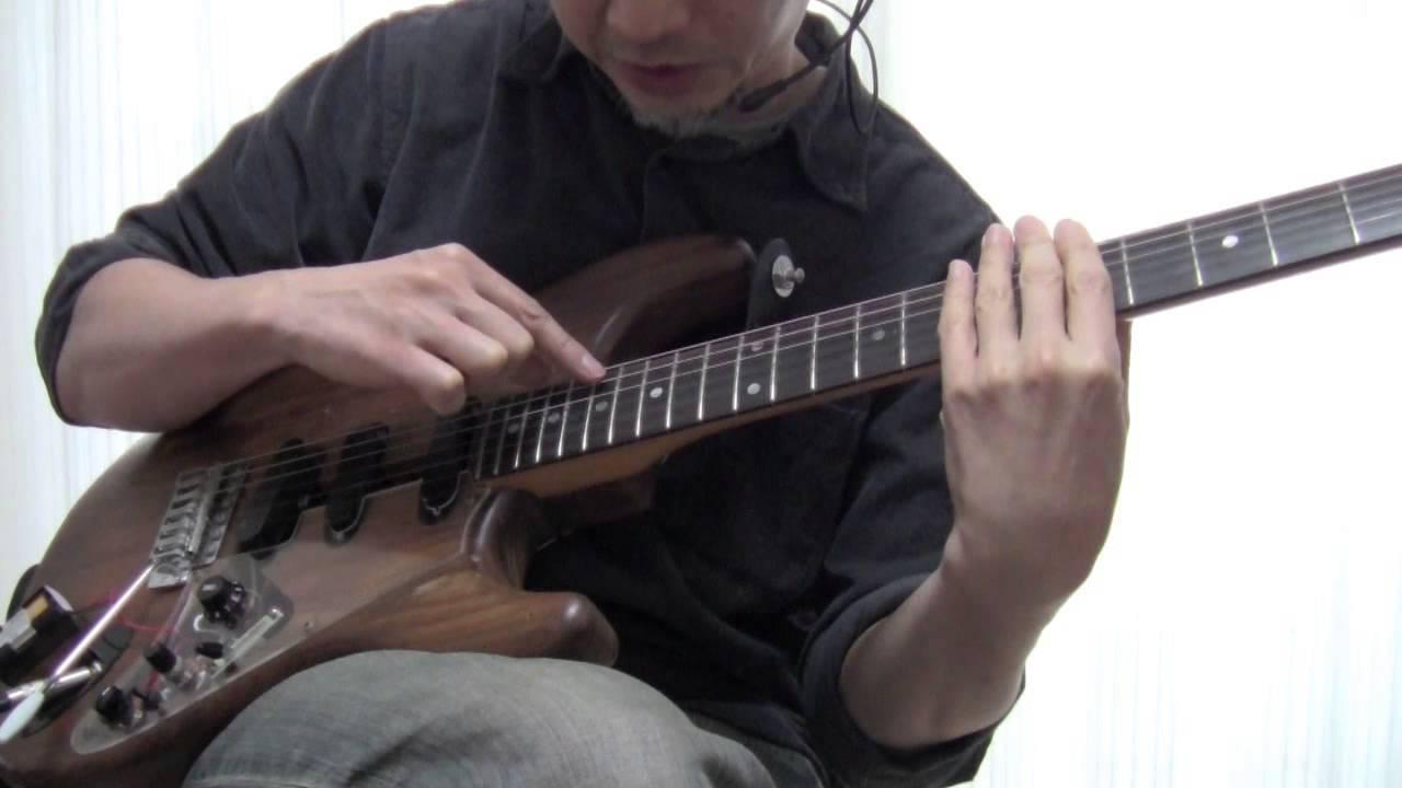 ギターの4種類のハーモニクス奏...