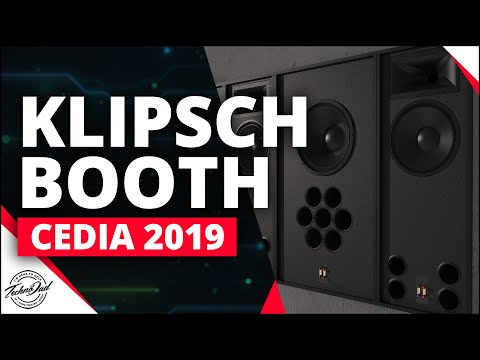 klipsch-behind-the-screen,-skyhook-cinch,-and-kva-in-wall-amplifiers-|-cedia-2019-booth-video