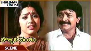 Bobbili Vamsam Movie || Rajasekhar Tells Meena About Baby's Death || Rajasekhar || Shalimarcinema