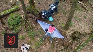 The Smallest Motorcycle Camping Kit