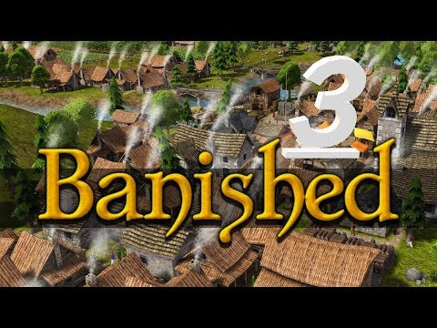 Let's Play Modded Banished - S1 E3 - Marketplace and Church! - Modded Banished Gameplay