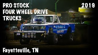 PPL 2019: Pro Stock Four Wheel Drive Trucks | Fayetteville, TN | Let's Go Pullilng
