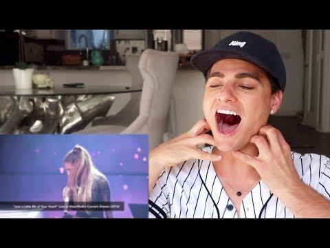 Singer REACTS to Ariana Grandes best live vocals!