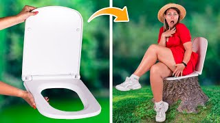 9 Funny Camping Hacks / Crazy Camp