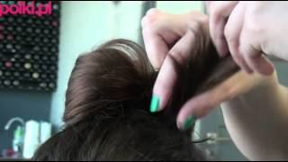 Kokarda z włosów - super fryzura