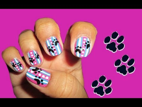 Dog Paw Nail Art Youtube