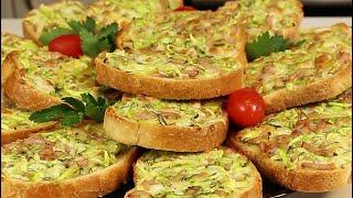 Горячие бутерброды с кабачком колбасой и сыром Неожиданно ВКУСНО ОЧЕНЬ вкусно