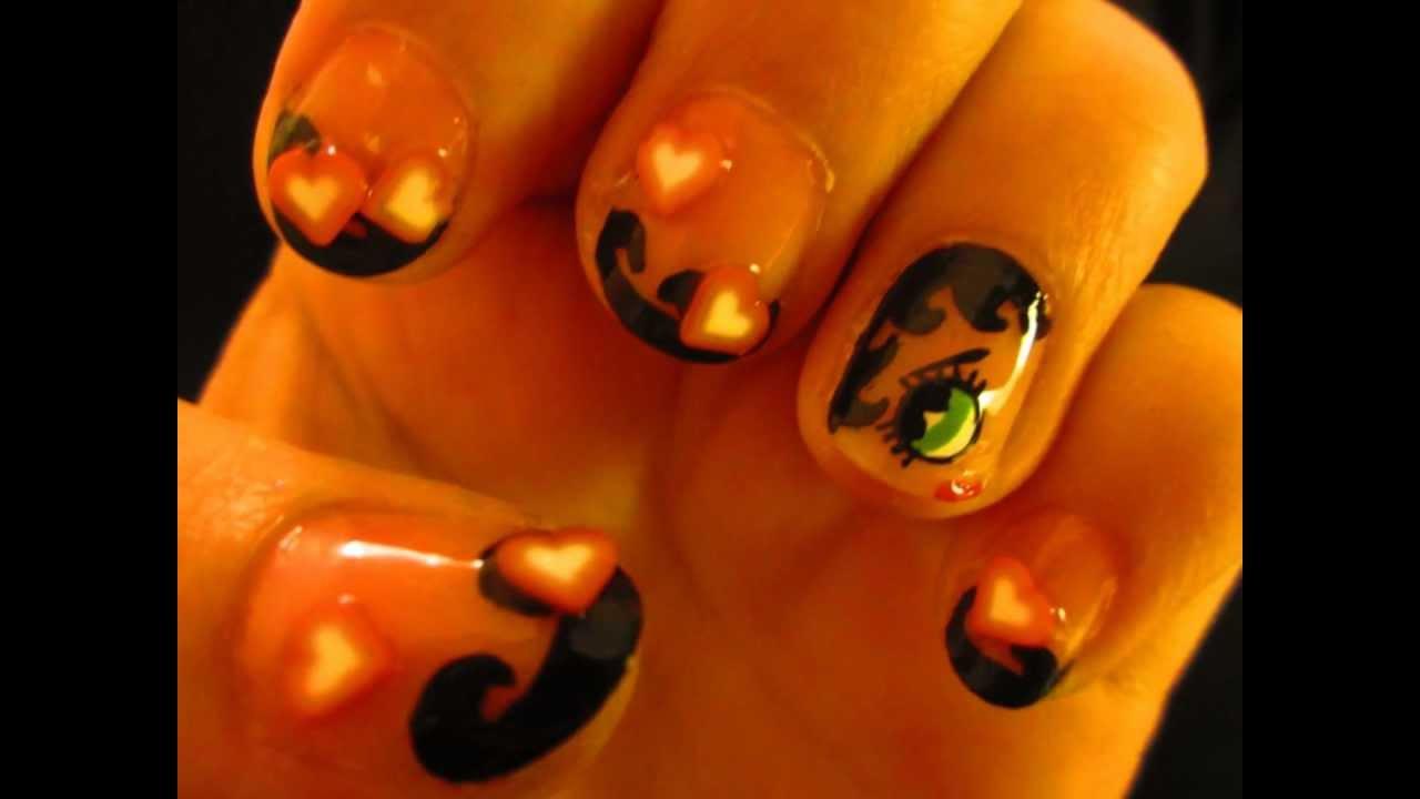 Nail Art Tutorial Betty Boop Youtube