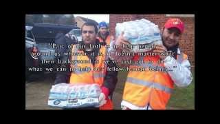 Ahmadiyya Muslim Youth in Middlesex help fight the UK Floods 2014