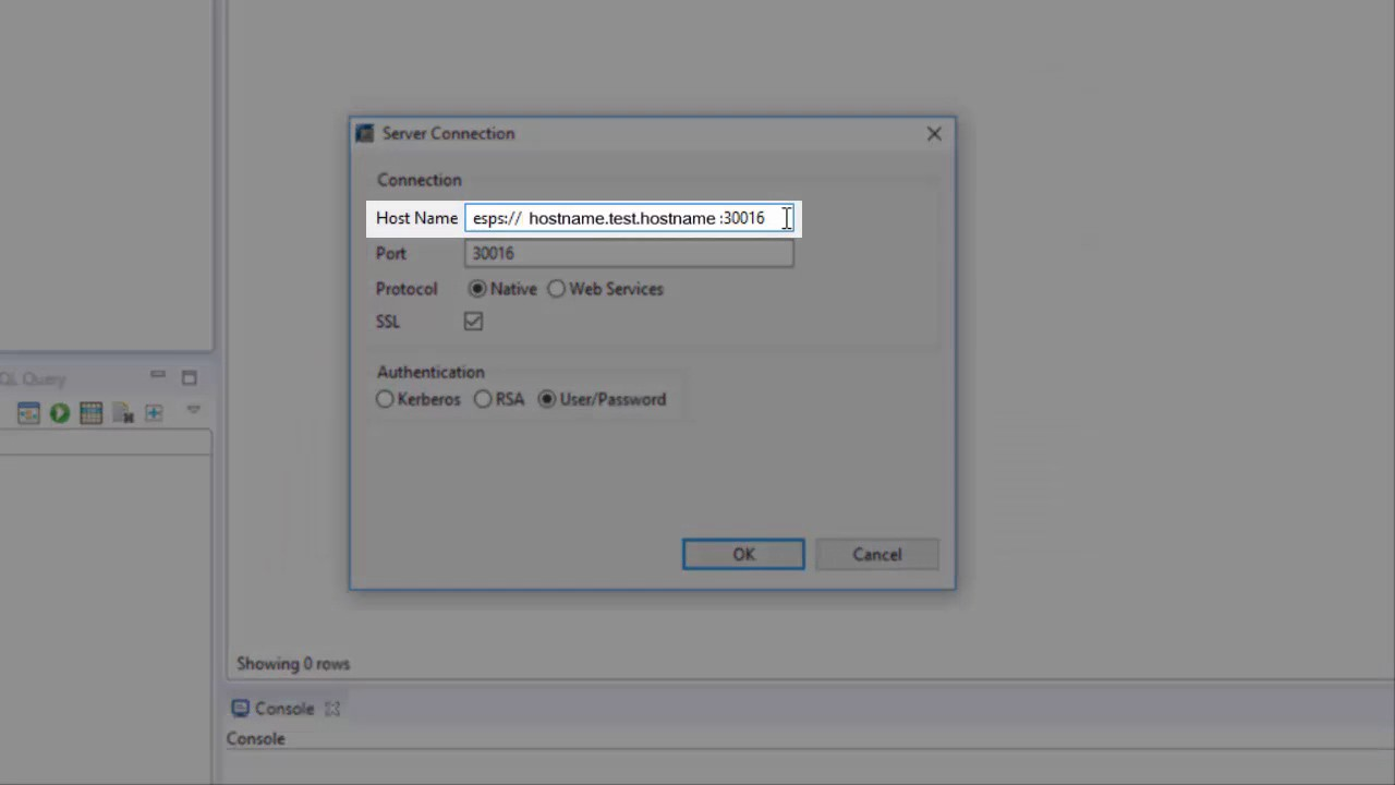 SAP HANA Academy - Streaming Analytics: Can't Add a Server Connection in  Studio