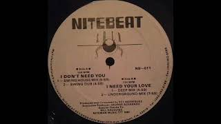 S.A.I.N. - I Don't Need You (Swing House Mix)