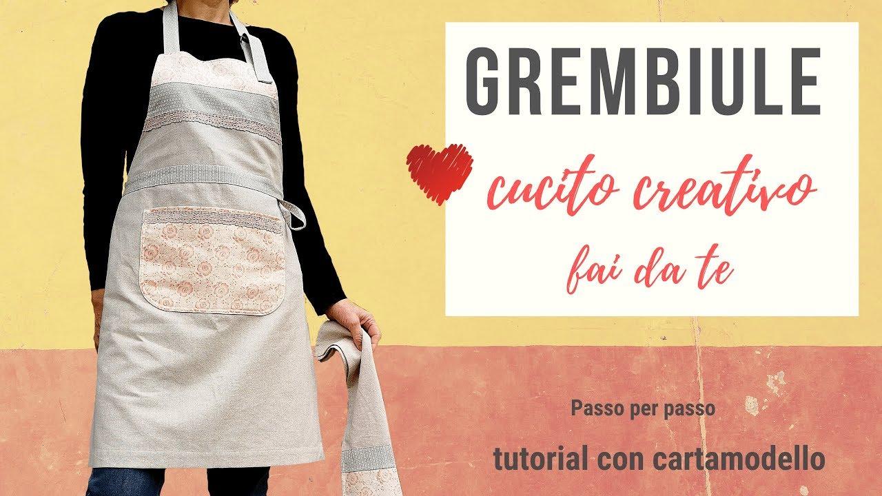 Grembiule Da Cucina Con Pettorina Cucito Creativo Passo Per Passo Youtube