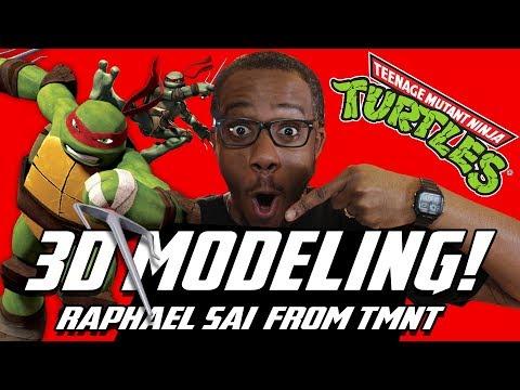 3D Modeling TMNT Raphael Sia