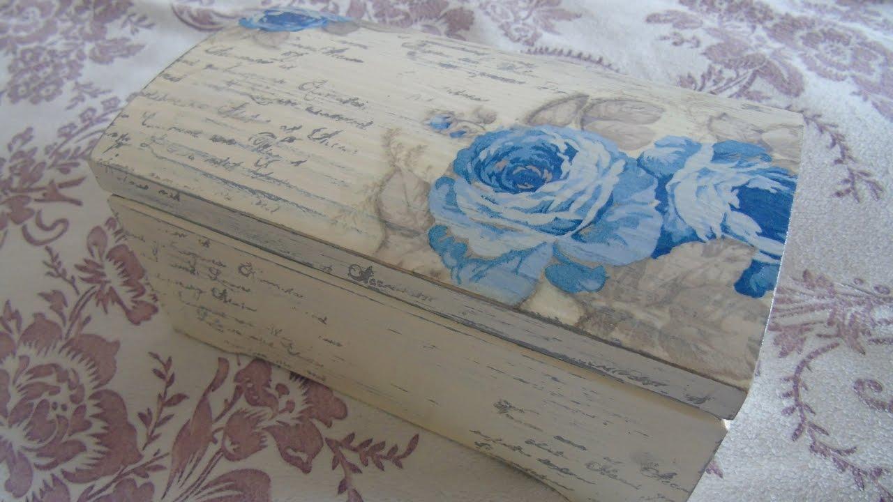 Decoupage box , decoupage on wooden box , decoupage pudełko vintage ,  decoupage suomi , tutorial DIY