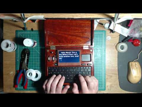 Write-O-Tron for President! Building a #raspberrypi word processor