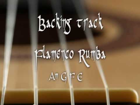 Backing track flamenco rumba Am G F E