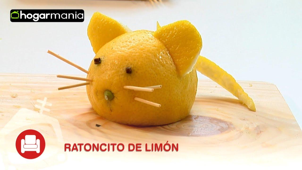 Decoraci n con frutas c mo hacer un rat n con un lim n for Secar frutas para decoracion