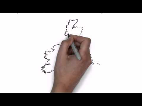 How To Draw Map Of United Kingdom And Ireland