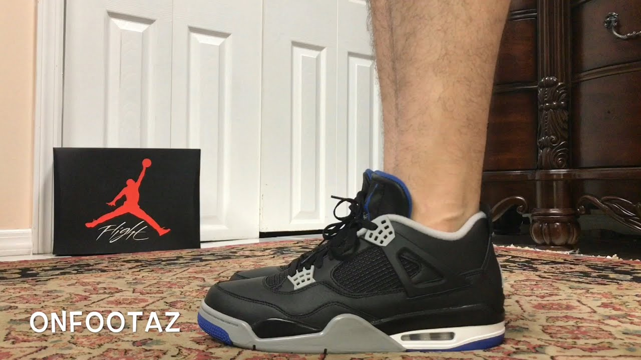 5a5a6bf4a64f Air Jordan 4 IV Alternate Motorsport Away On Foot - YouTube