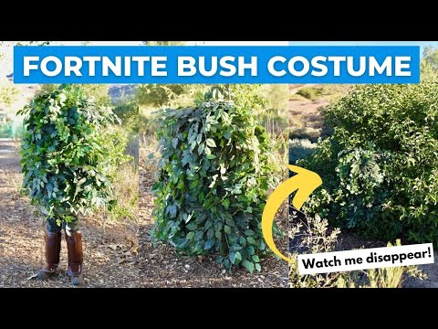 Fortnite Bush Costume DIY + Cosplay Video