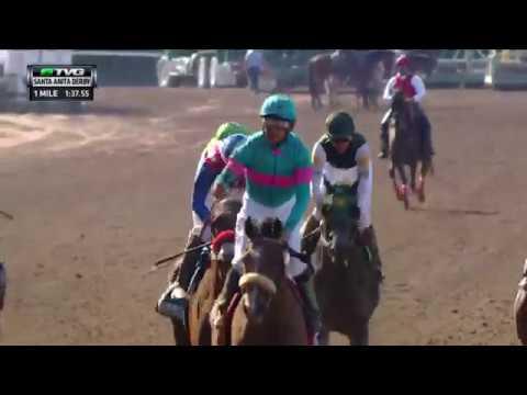 Race Replay 2017 Santa Anita Derby Featuring Gormley