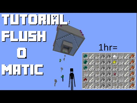 Minecraft: Easy Efficient Flushing Mob Farm (1.11/10/9/8, Console, PE)