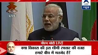 Modi talks of
