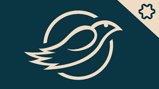 illustrator tutorial : Circle Logo Design With Eagle / Circular Grid / Pen Tool (Real Time)