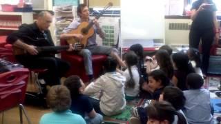 David Broza visiting Hebrew Language Academy
