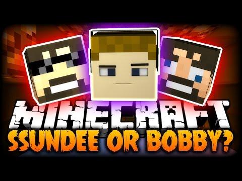 Minecraft: MEATPOLE PARKOUR - SSUNDEE OR BOBBY?! (Custom Parkour Map)