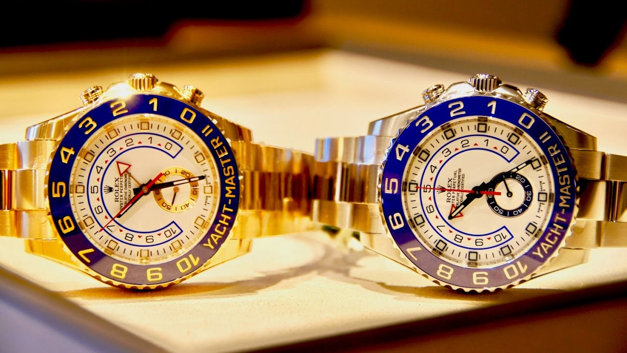 Review Rolex Yacht,Master II in Solid Gold and Steel