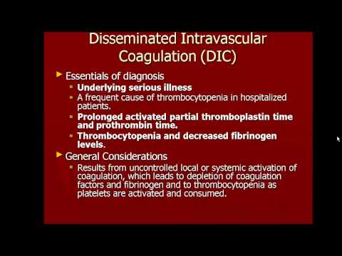 Platelets and Clotting Factor Disorders