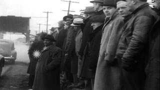 Bethlehem Steel workers clash with police during a strike at the plant in Lackawa...HD Stock Footage