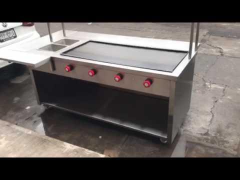 Mueble de acero inoxidable youtube - Mueble de plancha ...