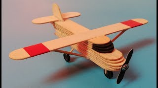 How to make a plane from popsicle sticks