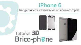 tuto changement vitre casse iphone 6 avec cran complet en moins de 15 minutes hd 3d