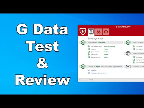 G Data Antivirus Test & Review 2020 - Antivirus Security Review - High Level Test