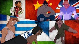 Disney Heroes singing in their Native Languages